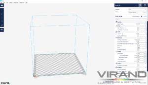 Cura, слайсер, как запустить 3Д принтер, VIRAND