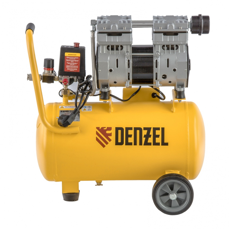 Купить бесшумный безмасляный компрессор для лазерного станка DENZEL 950/24