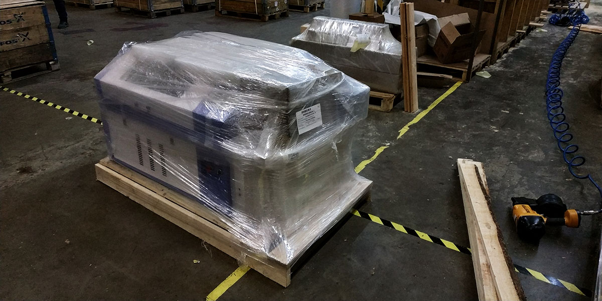 Подготовка к транспортировке лазерного станка VIRAND OPTIMA V1 6040 в г. Самара
